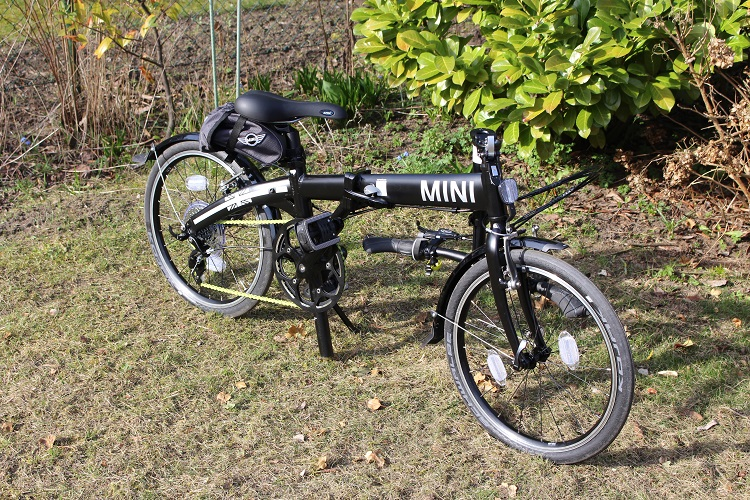 Mini Folding Bike black im test