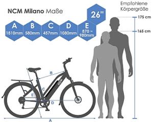 NCM Milano Plus Urban Elektrofahrrad